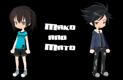 Mato and Mako Kuroi. Mako is the boy.